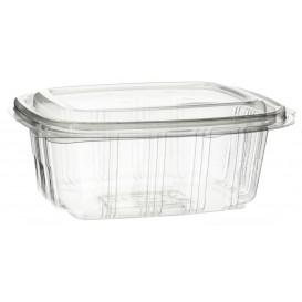 Plastic Hinged Deli Container PET High Dome Lid 500ml (50 Units)