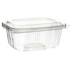 Plastic Hinged Deli Container PET High Dome Lid 750ml (50 Units)