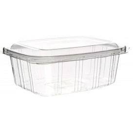 Plastic Hinged Deli Container PET High Dome Lid 1000ml (50 Units)