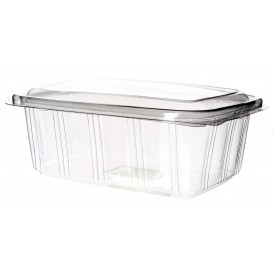 Plastic Hinged Deli Container PET High Dome Lid 2000ml (25 Units)