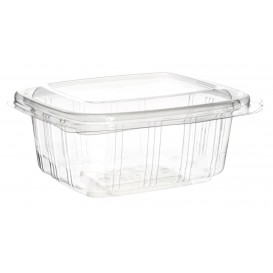 Plastic Hinged Deli Container PET High Dome Lid 250ml (50 Units)