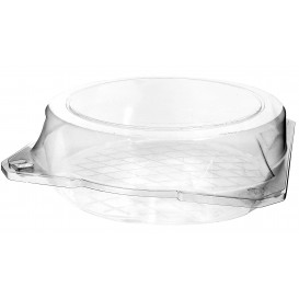 Plastic Hinged Bakery Container PET Ø23x8cm (115 Units)