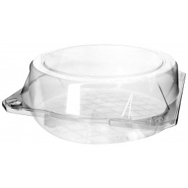 Plastic Hinged Bakery Container PET Ø20x8cm (23 Units)