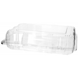 Plastic Hinged Bakery Container PET 22x14,5x6cm (220 Units)