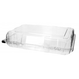 Plastic Hinged Bakery Container PET 25x17x6cm (220 Units)