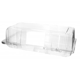 Plastic Hinged Bakery Container PET 26x13x8cm (20 Units)