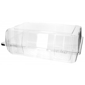 Plastic Hinged Bakery Container PET 28x18x10cm (220 Units)