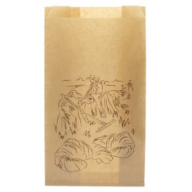 "Paper Food Bag Kraft ""Siega"" 12+6x20cm (250 Units)"