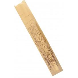 "Paper Food Bag ""Siega"" Kraft 9+5x50cm (100 Units)"