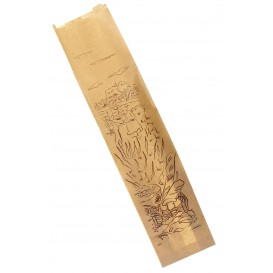 "Paper Food Bag ""Siega"" Kraft 12+6x50cm (250 Units)"