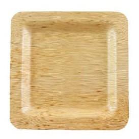 Bamboo Plate Square shape 12x12x1cm (100 Units)