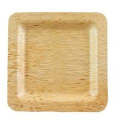 Bamboo Plate Square shape 12x12x1cm (100 Units)