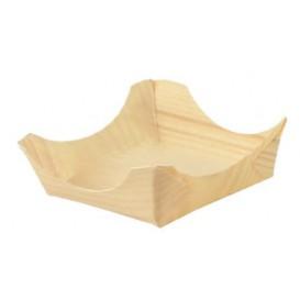 Pine Leaf Boat Tray 7,5x7,5x3cm (100 Units)
