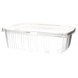 Plastic Hinged Lid OPS 1500ml (240 Units)
