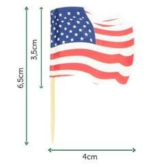 """Pinchos Banderita """"USA"""" 65mm (14.400 Uds)"""