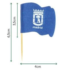 "Pinchos Banderita ""Madrid"" 65mm (144 Uds)"