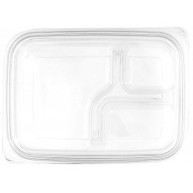 Plastic Lid for Deli Container PET Flat 22x16cm (75 Units)