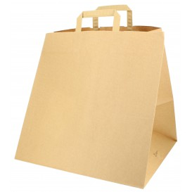 Paper Bag with Handles for Pizza Boxes 80g 37+33x32cm (125 Units)