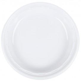 """Plastic Plate PS """"Famous Impact"""" White 28 cm (125 Units)"""
