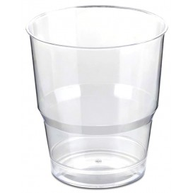 Plastic Cup PS Crystal Hard Wrapped 250ml (40 Units)
