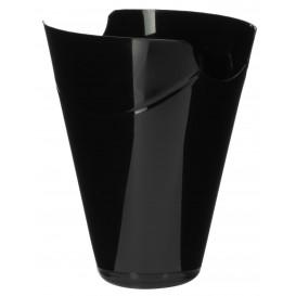 """Tasting Plastic Container PP """"Click-Clack"""" Black 180ml (10 Units)"""