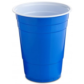 Plastic Cup PS Blue American Party 550ml (25 Units)