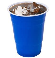 Plastic Cup PS Blue American Party 550ml (400 Units)
