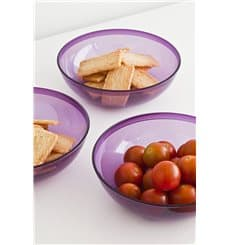 Plastic Bowl PS Crystal Hard Eggplant 400ml Ø14cm (60 Units)