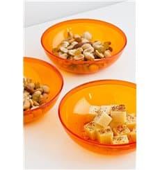 Plastic Bowl PS Crystal Hard Orange 400ml Ø14cm (60 Units)