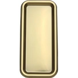Plastic Tray Rectangular Shape Gold 35x16cm (5 Units)