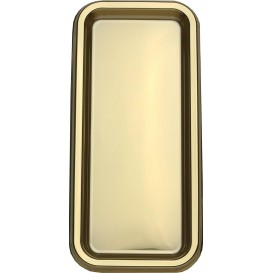 Plastic Tray Rectangular Shape Gold 35x16cm (50 Uds)