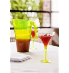 Copa de Plastico Cocktail Pie Verde 100 ml (6 Uds)