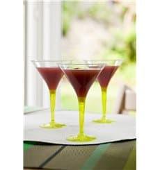 Copa de Plastico Cocktail Pie Verde 100 ml (48 Uds)