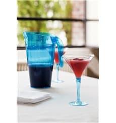 Plastic stamglas Cocktail turkoois 100 ml (6 stuks)