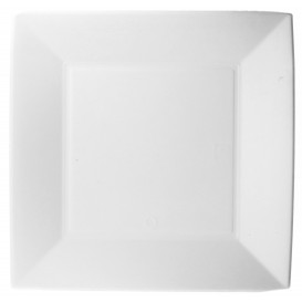 "Sugarcane Plate Square shape ""Nice"" White 23x23 cm (500 Units)"