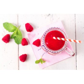 Paper Straw Straight Red and White Ø0,6cm 20cm (100 Units)