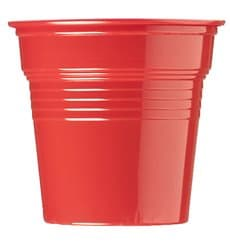 Plastic Shot PS Red 80ml Ø5,7cm (50 Units)
