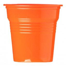 Plastic Shot PS Orange 80ml Ø5,7cm (50 Units)