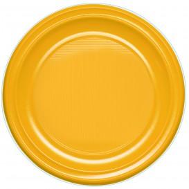 Plastic Plate PS Flat Mango 22 cm (780 Units)