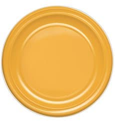 Plastic Plate PS Deep Mango 22 cm (30 Units)