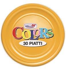 Plastic Plate PS Flat Mango 17 cm (50 Units)