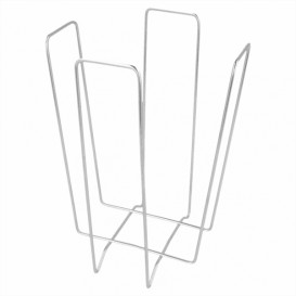 Wire Napkin Holder Silver 22x22x18cm (12 Units)