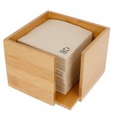 Bamboo Napkin Holder 13,5x13,5x10cm (12 Units)