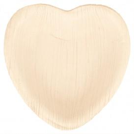 Palm Leaf Plate Heart Shape 10x10x1,5cm (25 Units)