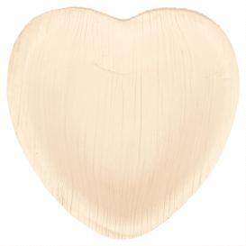 Palm Leaf Plate Heart Shape 10x10x1,5cm (200 Units)