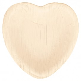 "Palm Leaf Plate ""Heart"" Shape 16,5x16,5x2,5cm (200 Units)"