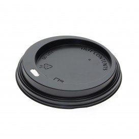 Lid for Paper Cup Hole Black 12, 16 and 22 Oz Ø9,0cm (100 Units)