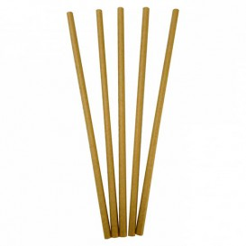 Paper Straw Straight Kraft Ø0,6cm 20cm (10000 Units)