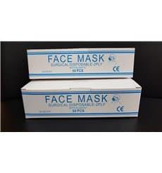 "Disposable Surgical Mask Rectangular Shape ""TST"" Blue 2C (50 Units)"