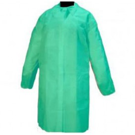 Disposable Lab Coat Visitor Guest TST PP Velcro Green XL (200 Units)